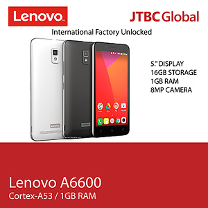 New Lenovo A6600 5 Inch 4G LTE 16GB Factory Unlocked Android Smart Phone