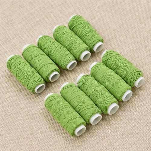 X10 Nähgarn Nähmaschine Faden Elastisch Polyester Basteln Handarbeit Mehrfarbig