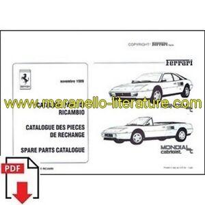 1989 Ferrari Mondial T Spare Parts Catalogue Pdf (it/fr/uk) Lissage De La Circulation Et Des Douleurs D'ArrêT