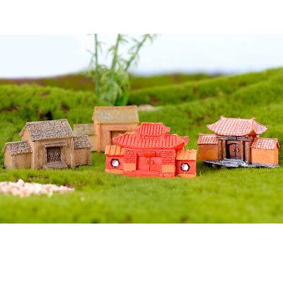 Resin Miniature House Fairy Garden Home Decor Mini Xmas Micro Landscaping UK