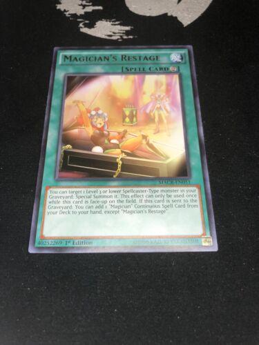 Yu-Gi-Oh Rare 1st Ed NM Magician/'s RestageMACR-EN051