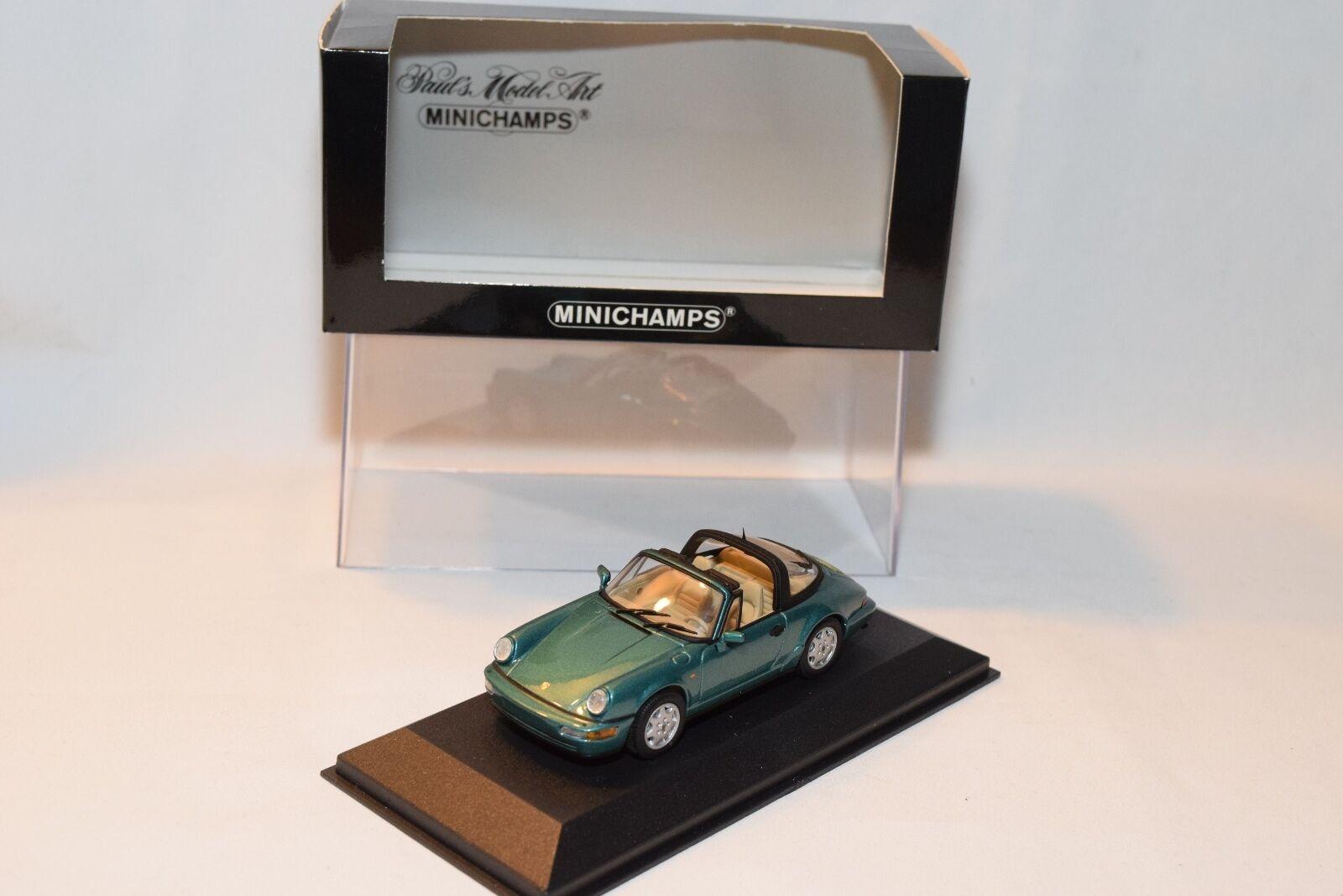 para barato . MINICHAMPS PORSCHE 911 911 911 TARGA 1990 TURQUOISE MINT BOXED  el mas reciente
