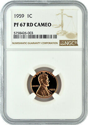 NGC Certified PF 67 RD 1968 S  Lincoln 1c