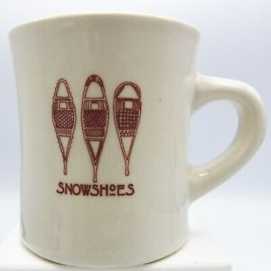Snowshoes-Coffee-Mug-Heavy-Diner-Style-Winter-Snow-3-Huron-Type-Brown-Graphic