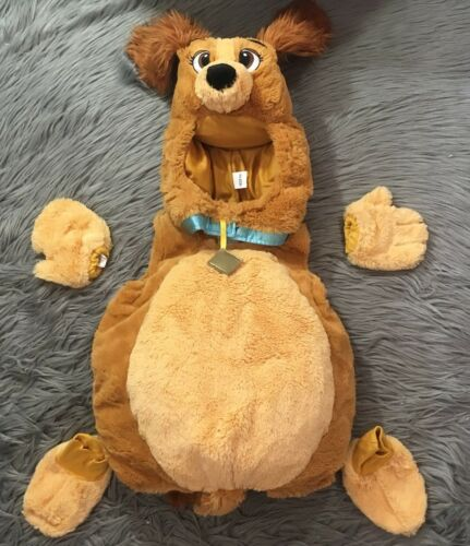 DISNEY STORE LADY AND THE TRAMP MOVIE PLUSH HALLOW