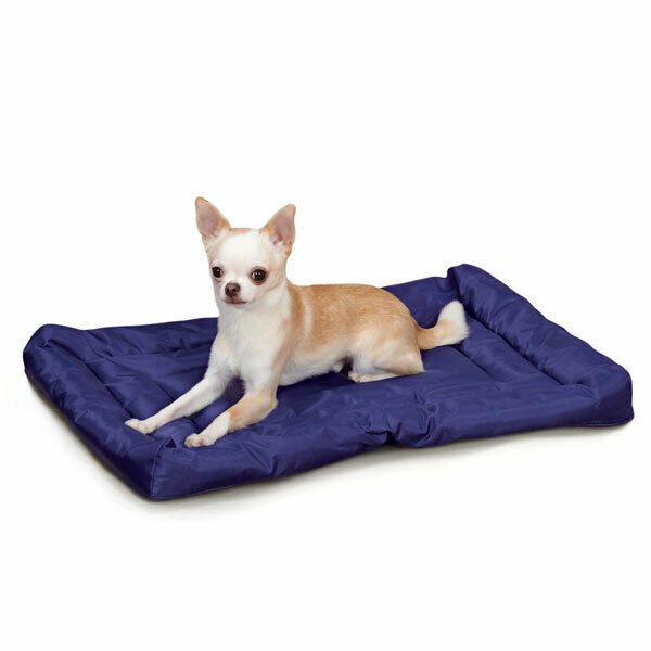 Royal Blau Dog Beds Water Resistant Nylon Crate Mat Indoor Outdoor Use Pick Größe