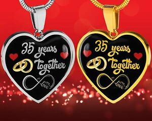 Personalized Engraved 35th Wedding Anniversary Gift For Her Married 35 Years Ebay