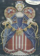 Angel of Christmas Spirit Contemporary Yumi Sugai Counted Cross Stitch Pattern