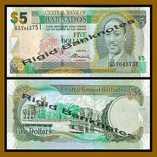 Barbados 5 Dollars, 2012, P-67 C, Prefix-G, Unc