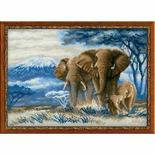 "14 Coun RIOLIS Counted Cross Stitch Kit 15.75/""X11.75/""-Elephants In The Savannah"