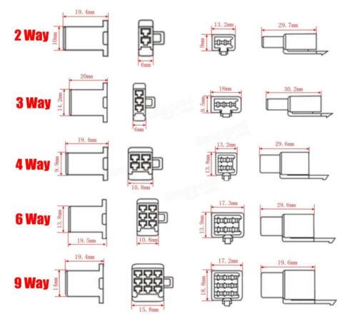 10 Paar 3 Kontakte 3Pin Stecker Buchse Kupplung Adapter Motorrad Roller PKW Boot