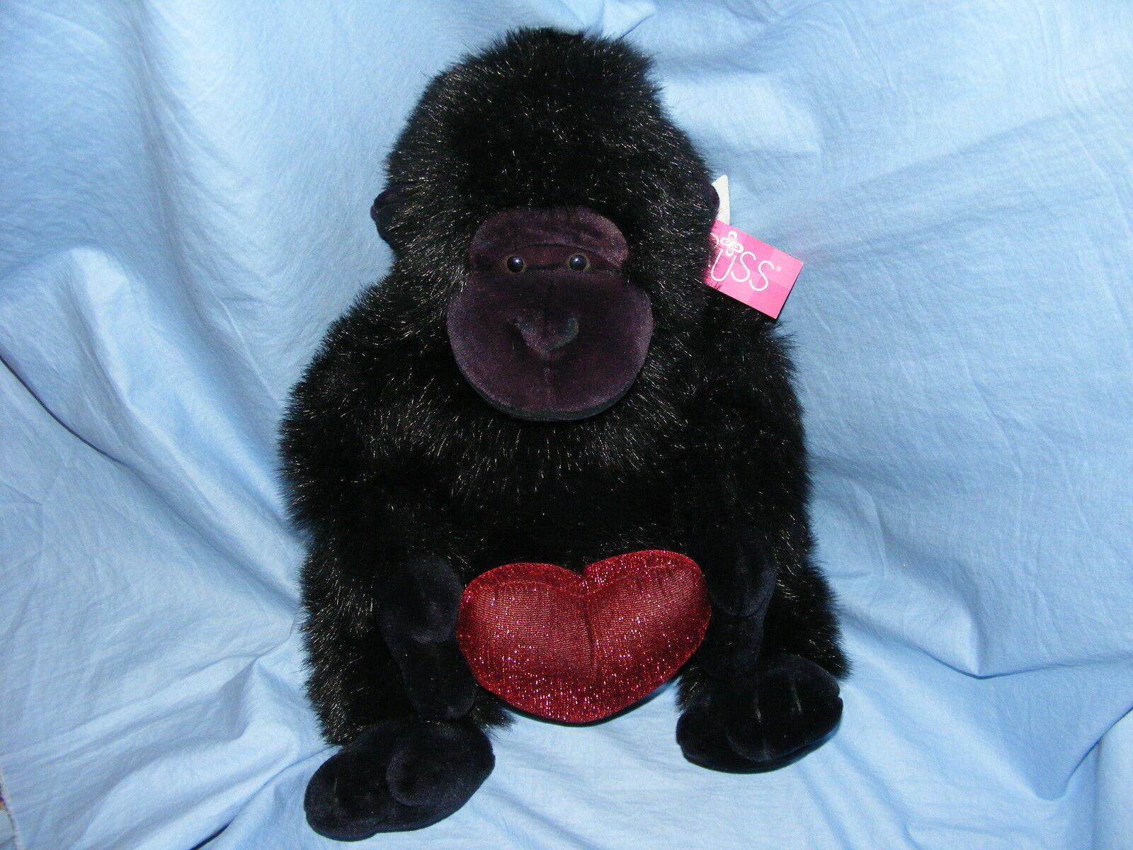 Russ Berrie Gorilla Herz Throbs 5007 Sammelobjekt seltener Geburtstagsgeschenk