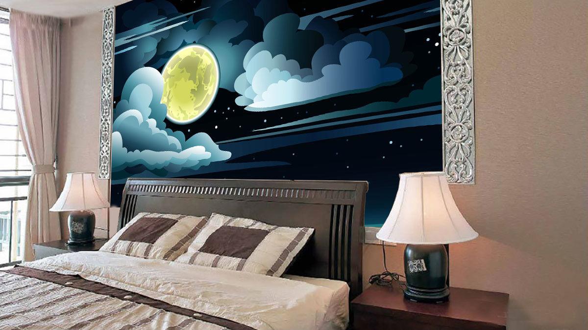 3D golden Moon Lake 562 Wall Paper Wall Print Decal Wall Deco Indoor Mural Lemon