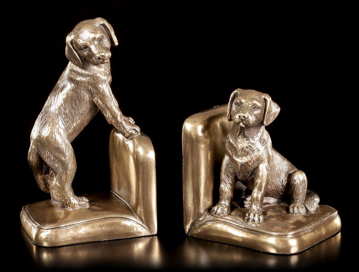 Hunde Buchstützen Set - Beagle Welpen - Figur Deko Veronese