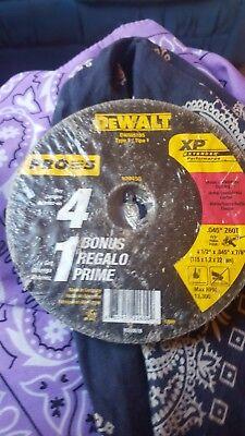 """DEWALT 4-1//2/"""" x 0.045/"""" Metal Cutting Wheels DW8424B5 5pk"""