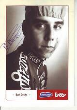 CYCLISME carte cycliste BART DOCKX équipe DAVITAMON LOTTO signée