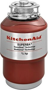 Kitchenaid Kcds075t 3 4 Hp Garbage Disposal Brand New