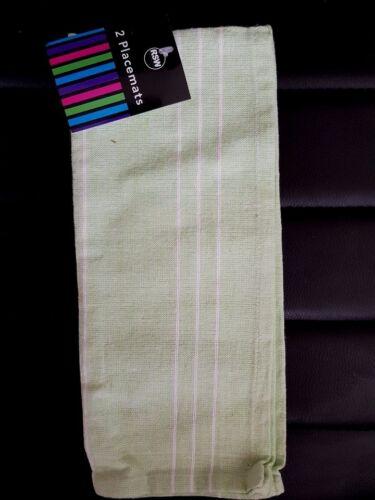 mostrar título original Detalles acerca de  /2 Manteles individuales mesa Mat toalla de algodón en 4 Color Púrpura Rosa Azul Y Verde
