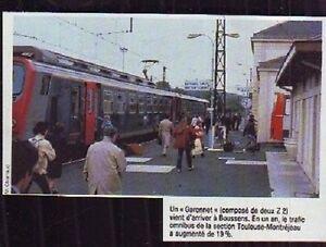 1983 -- UN GARONNET EN GARE DE BOUSSENS P710 - France - 1983 -- UN GARONNET EN GARE DE BOUSSENS P710 il ne s'agit pas d'une carte postale , mais d'un beau document paru dans la rare vie du rail en 1983 le document GARANTI D'EPOQUE est en tres bon état et présenté sur carton d'encadrement format 135 - France