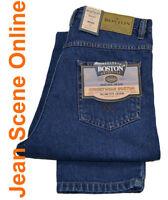 New Men's Boston Slim Fit Jeans Tapered Narrow Leg Tight Denim Stonewash Blue