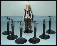 6 Action Figure Display Stands Fit 5.5 Walking Dead 6 Star Wars Black