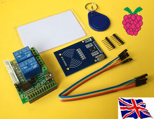 Rs-pi-Rfid-Lector-amp-2-Relay-Paso-del-Motor-Consejo-Rfid-kit01-Para-Raspberry-Pi