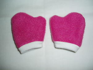 "Hot Pink Mittens 18"" Doll Clothes Fits American Girl"