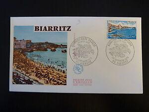 Complexé France Premier Jour Fdc Yvert 1903 Biarritz 1,40f Biarritz 1976