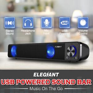 ELEGIANT-USB-Multimedia-Speaker-Audio-Sound-Bar-TV-Soundbar-Computer-PC-Laptop