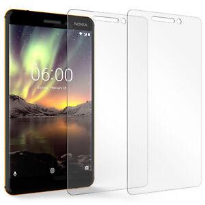 Lot-de-2-Nokia-6-2018-Protections-D-039-ecran-meilleur-verre-trempe-mince-Protection