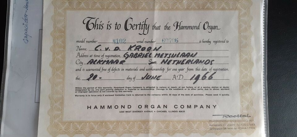 Hammondorgel, Hammond M102