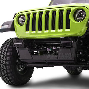 18-19-Jeep-JL-Wrangler-Black-Front-Bumper-Extreme-Heavy-Duty-Skid-Plate-Double