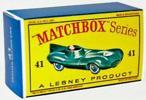 Matchbox-Lesney-No-41-JAGUAR-D-TYPE-empty-Repro-D-style-Box