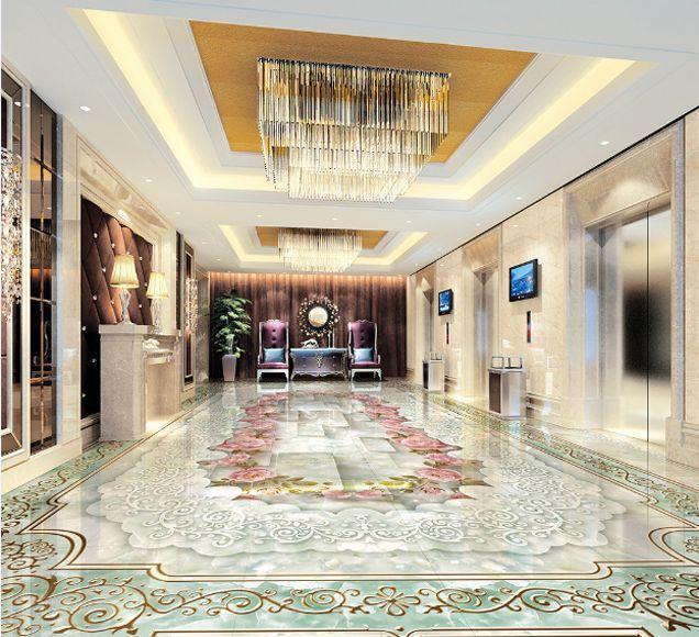 3D Motifs 05 Fond d'écran étage Murale Peint en Autocollant Murale étage Plafond Chambre Art 28dd9b