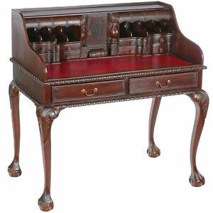Chippendale Sekretar Schreibtisch Engl Mahagoni Kolonial Desk