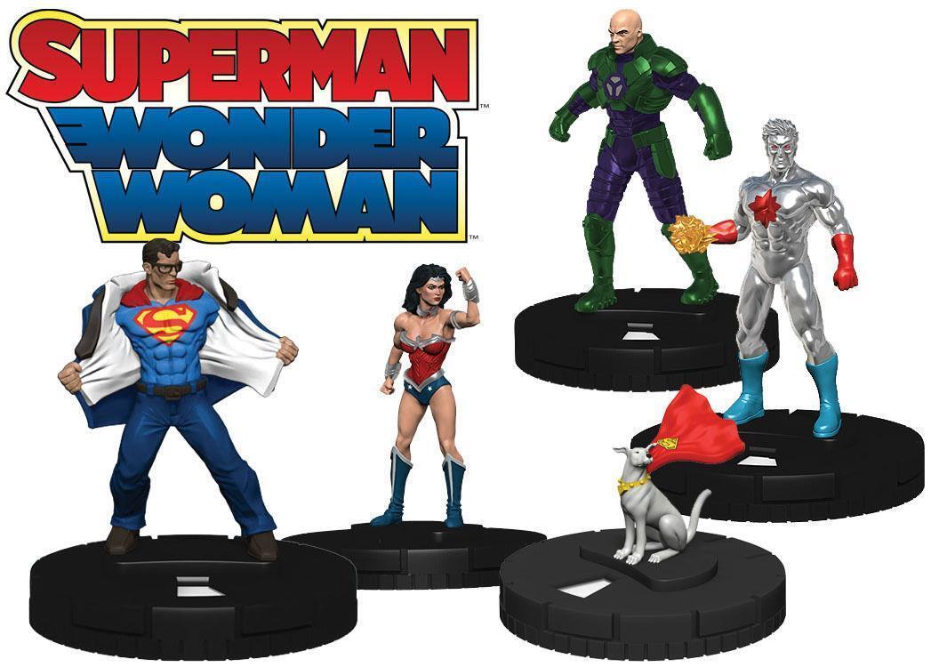 Dc Heroclix  Preventa Superman, Wonder Woman (2) 9-ct. Booster Brick Funda Nueva