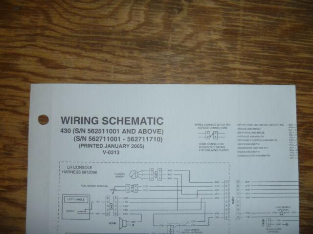 Bobcat 430 Excavator Electrical Wiring Diagram Schematic