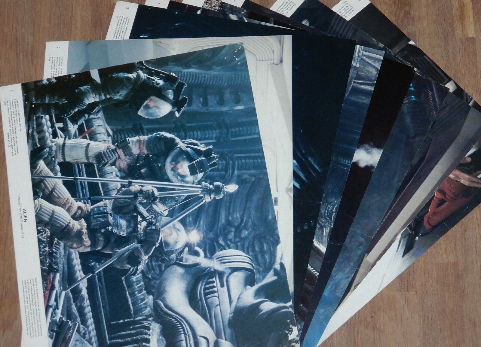 ALIEN 1979 ORIGINAL SET OF 8 LOBBY CARDS USA RIDLEY SCOTT