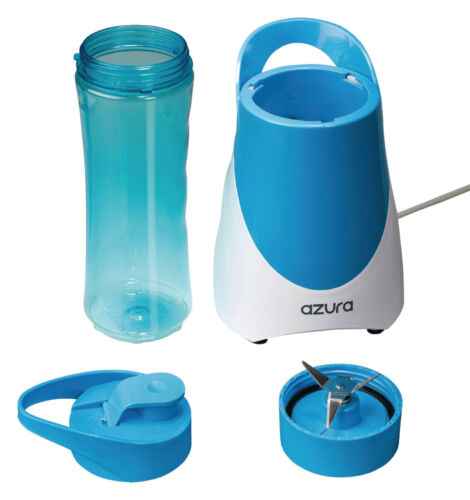 Azura AZ-BL10 0.6 l Blau Standmixer 300 Watt Weiß Blau Smoothie Mixer