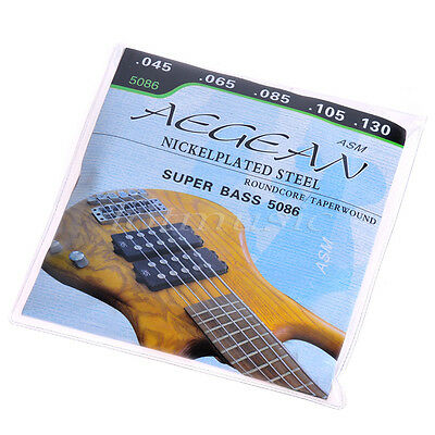 5-String Super Electric Bass Strings nickelplated Steel RoundCore
