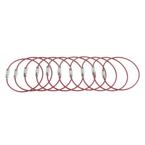 40Pcs Cable Wire Loop Luggage Tag Loops Stainless Steel Metal Wire Straps