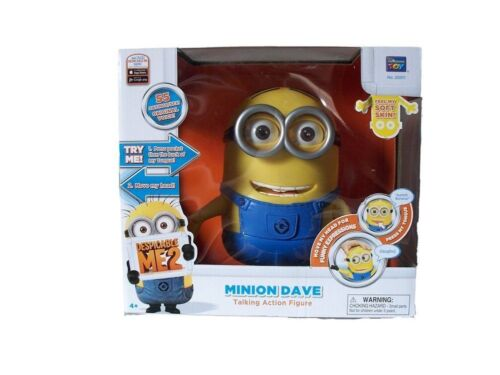 Despicable Me 2 ME2 Minion Dave Talking Action Figure Interactive Doll NEW Toy