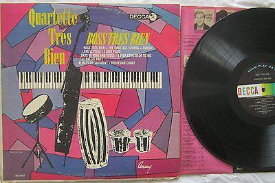 Quartette Tres Bien Boss Tres Bien LP Decca DL4547 VG+
