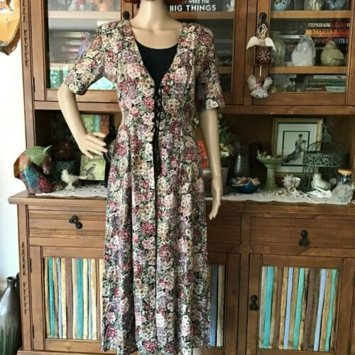 VINTAGE WOMENS STAR OF INDIA MEDIUM RAYON FLORAL B