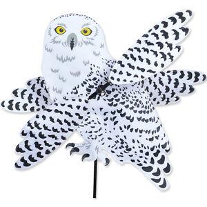 Snowy owl wind spinner whirligig yard stake garden for Wind garden by premier designs