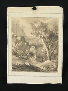 Louis-Auguste-GERARD-1783-1862-dibujo-1839-MONTANA-mountain-Cambridge