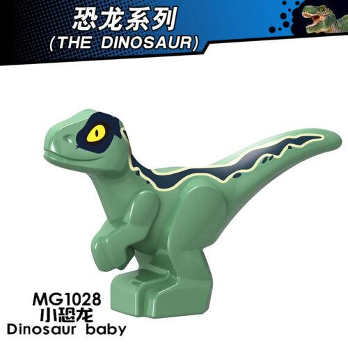 Baustein Blau Dinosaurier Drache Figur Kinder DIY Spielzeug Modell Geschenke 5P