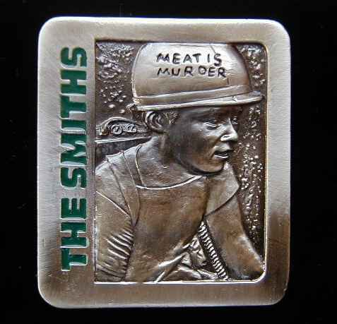 THE SMITHS MEAT IS MURDER BELT BUCKLE, LICENSED BUCKLES