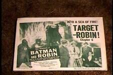 NEW ADV OF BATMAN & ROBIN CHAP 6 LOBBY CARD #1 SERIAL 1949