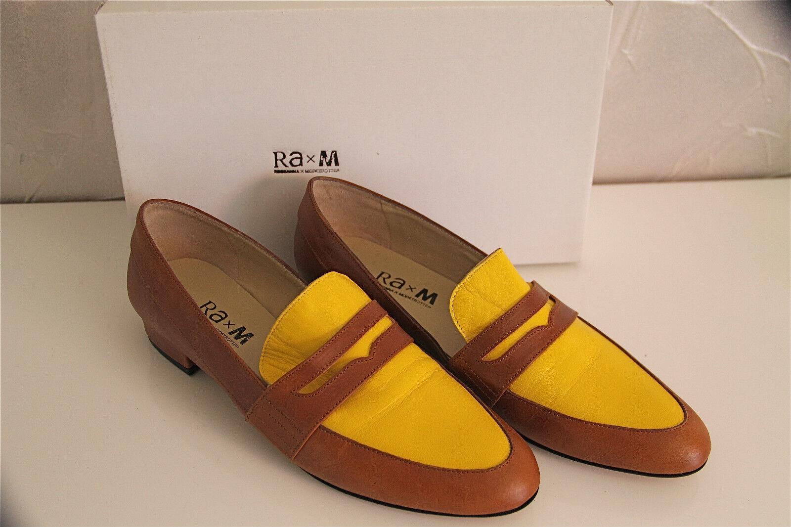 Escarpins cuir amarillo amarillo amarillo marrón rosadoANNA X MODETrojoTER 36,5 NEUVE BOITE valeur  ventas de salida